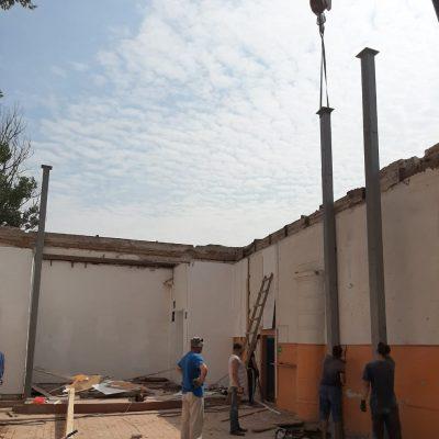 Ход восстановительных работ, август 2019.